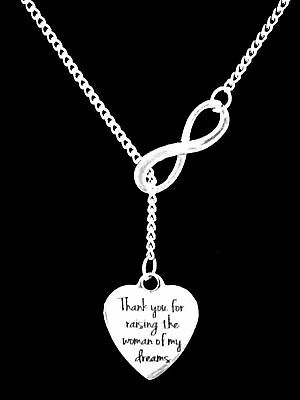 Mother Of The Bride Thank You For Raising The Woman Wedding Gift Lariat Necklace