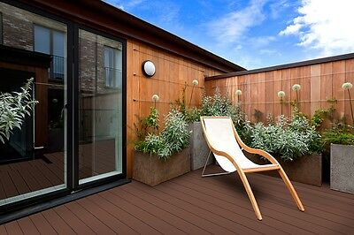 Composite Decking - 4 Colours - Charcoal, Ash Grey, Teak & Chocolate.