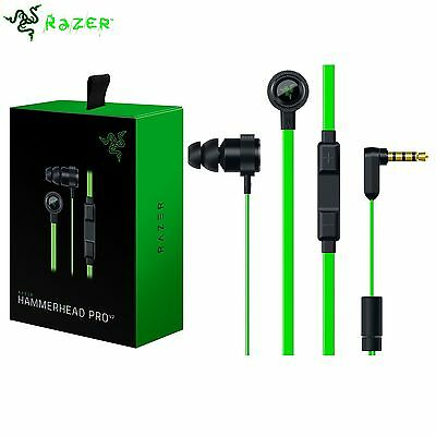 Razer Hammerhead Pro V2 (2016) In-Ear Gaming Headphones In-line Volume & Mic TS