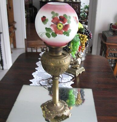High Quality 1800's  Antique Bradley & Hubbard Banquet Oil  Lamp
