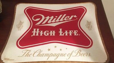 Miller High Life MHL Champagne of Beers Retro Metal Beer Sign 20x16""