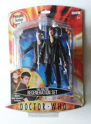 Doctor Who Regeneration Set - 2 boxed figures of 9th & 10th Doctors.