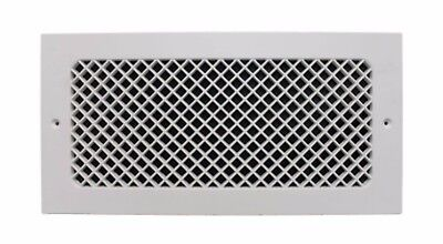 6 x 14 in White Return Cold Air Vent Ventilation Duct Grille Wall Register HVAC