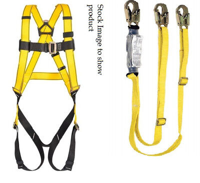*SPECIAL* MSA XL 10072480 Qwik Fit Safety Harness and Twin Leg Lanyard Combo