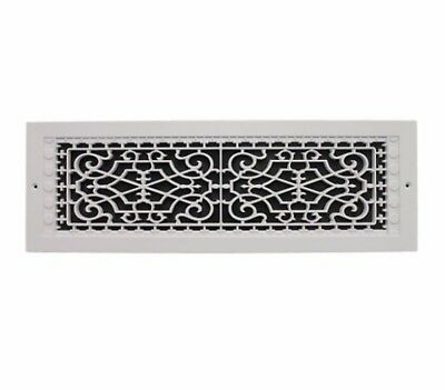 6 x 22 in White Return Cold Air Vent Ventilation Grille Wall Register HVAC Cover