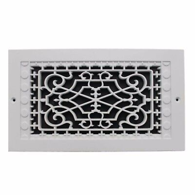 6 x 12 in White Return Cold Air Vent Ventilation Grille Wall Register HVAC Decor