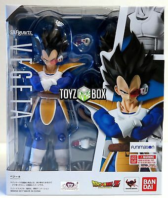 "In STOCK S.H. Figuarts Dragonball Z ""Normal Vegeta Scouter 2.0"" Action Figure"