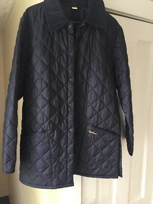 Men's Barbour Navy Liddesdale Quilted Jacket-Small.