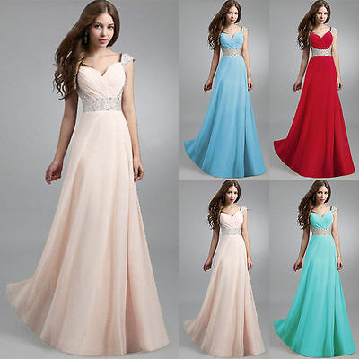 Long Formal Evening Prom Party Dress Bridesmaid Dresses Ball Gown Cocktail New