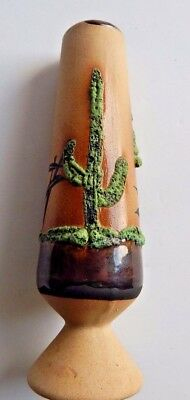 """B. Selby Handcrafted Painted and Embossed Southwest Art Pottery Vase 6"""" tall"""