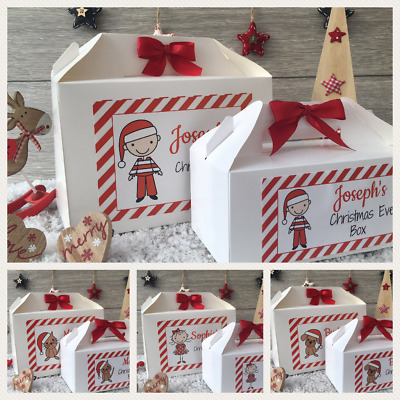 Personalised Christmas Eve Box - Xmas Gift Favour Present - Stick Family Dog Cat
