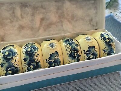 Russian hand painted napkin rings