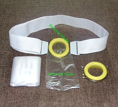 100 /200PC Disposable Colostomy Bags Ostomy pouches Ajustable Band Hole Dia:43mm