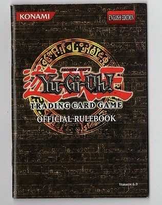 """Yu-Gi-Oh! """"Official Rulebook"""" English Edition, Version 6, MINT CONDITION"""