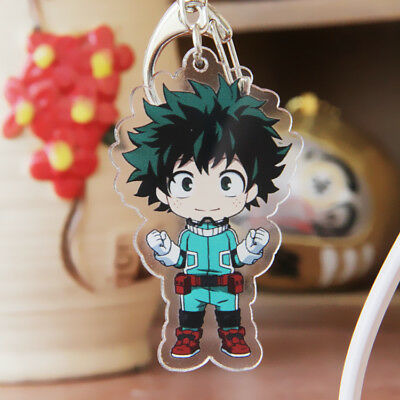 1pc My Hero Academia Boku no hero academia Izuku Midoriya Key Chain Ring Acrylic