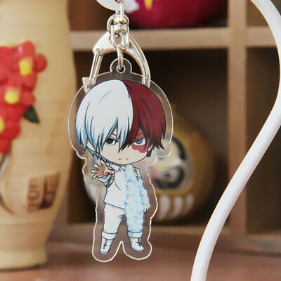 My Hero Academi Boku no hero academia Todoroki Shouto Key Chain Ring Acrylic