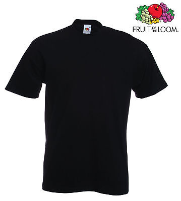 Lot de 10 T-shirts homme manches courtes FRUIT OF THE LOOM  COULEUR NOIR