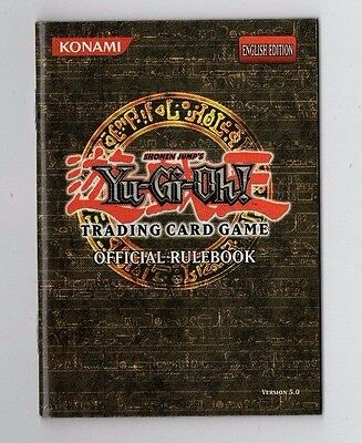 """Yu-Gi-Oh! """"Official Rulebook"""" English Edition, Version 5.0, MINT CONDITION"""