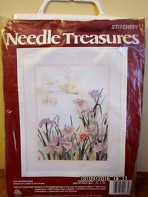 ~Stitchery Needle Treasures Crewel Embroidery Kit 00630-The Waters Edge-Unused~