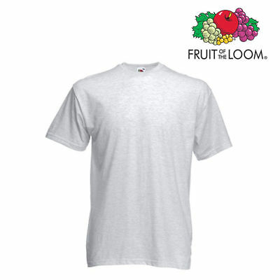 Lot de 10 T-shirts homme manches courtes FRUIT OF THE LOOM  COULEUR GRIS CLAIR