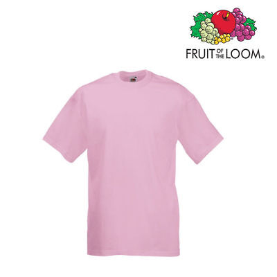 Lot de 10 T-shirts homme manches courtes FRUIT OF THE LOOM COULEUR ROSE