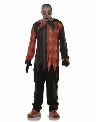 Killer Clown Photo Real Shirt Adult Male Halloween Tshirt Set - One Size