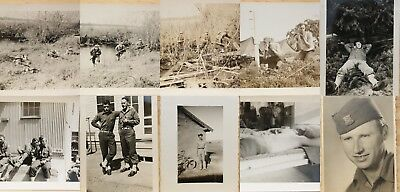 Lot of 10 Original Snapshots WW2 Special Forces Soldier & Buddies in Training