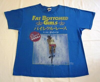 Queen  :  Official ' Fat Bottomed Girls ' Bicycle Race Japanese Single T-Shirt