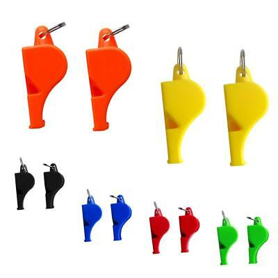 2pcs Ultra Loud Emergency Survival Whistle Marine Safety Camping Boating