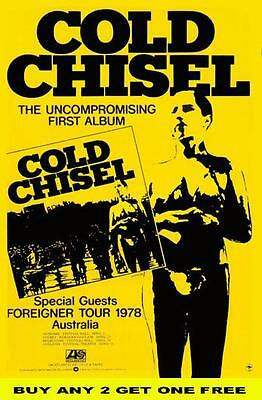 COLD CHISEL 1978 Australian Laminated  Tour Poster