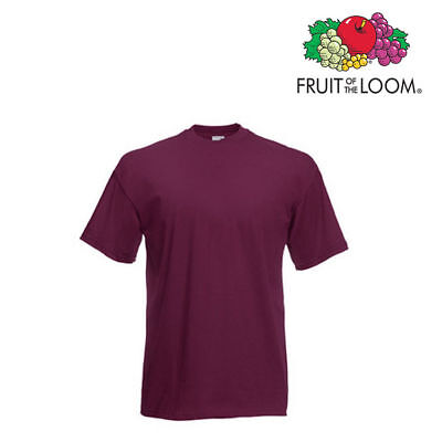 Lot de 10 T-shirts homme manches courtes FRUIT OF THE LOOM COULEUR GRENAT