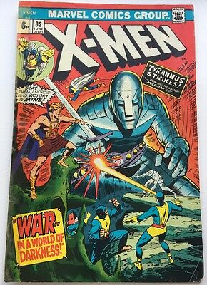 "The X-Men #82 Jun 1973 Comic""war...in A World Of Darkness"" Bronze Age Marvel"