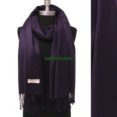 NEW Women Soft PASHMINA Classic Cashmere SHAWL Scarf Stole WRAP Solid Egg plant