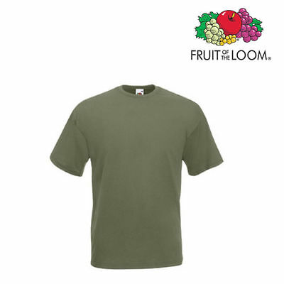 Lot de 10 T-shirts homme manches courtes FRUIT OF THE LOOM COULEUR OLIVE