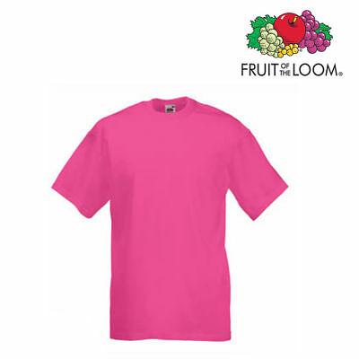 Lot de 10 T-shirts homme manches courtes FRUIT OF THE LOOM COULEUR FUCHSIA