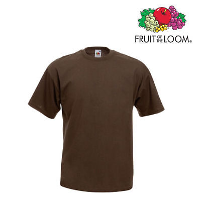 Lot de 10 T-shirts homme manches courtes FRUIT OF THE LOOM COULEUR CHOCOLAT