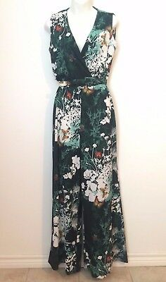 VINTAGE 70s abstract psychedelic hippy Pallazzo Jumpsuit prop beach playsuit-L