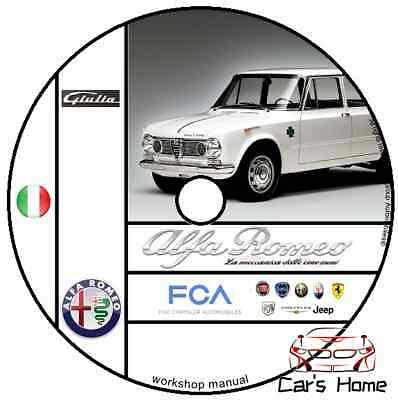 Manuale Officina Alfa Romeo Giulia My 1961 - 1977 Workshop Manual Service Dvd