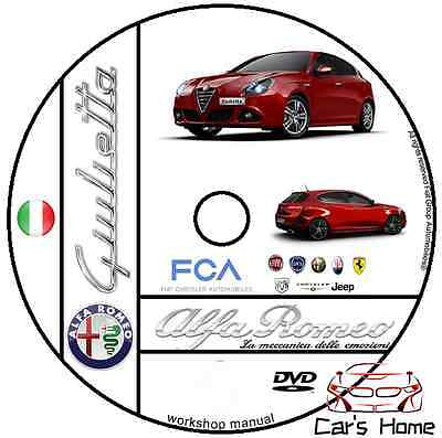 Manuale Officina Alfa Romeo Giulietta My 2013 Workshop Manual Service Dvd