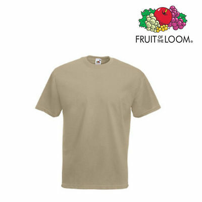 Lot de 5 T-shirts homme manches courtes FRUIT OF THE LOOM COULEUR KAKI