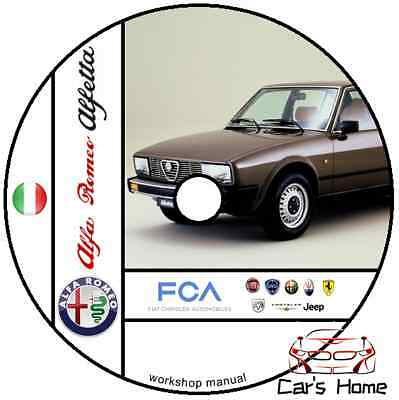 Manuale Officina Alfa Romeo Alfetta My 1973 - 1987 Workshop Manual Service Dvd