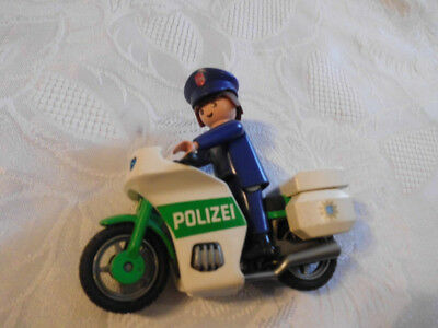 playmobil motorrad mit fahrer polizei eur 3 20. Black Bedroom Furniture Sets. Home Design Ideas