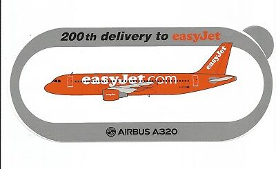 Airbus Sticker Autocollant A320 Easyjet 200Th Delivery - Neuf