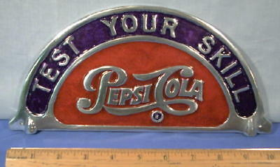 Pepsi Coin Operated Shooting Gallery  Pepsi-Cola Marquis  Aluminum Game Sign