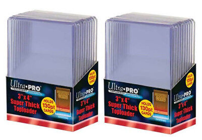 20 Ultra Pro 130pt 3x4 Super Thick Toploaders toploader New Top Loaders Jersey