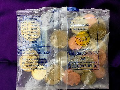 Luxembourg Euro Coin Starter Set In Bag