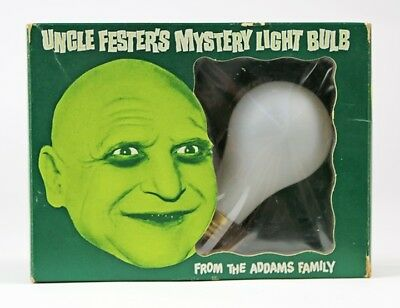 1965 Addams Family UNCLE FESTER'S MYSTERY LIGHT BULB Poynter with RING - COOL!