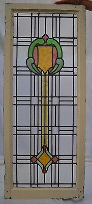 English leaded light stained glass window. B575. MULTIPLE DELIVERY OPTIONS!!!