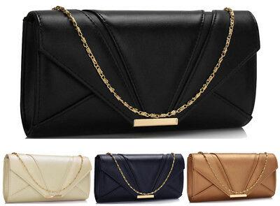 Womens Designer Handbag Clutch Bag Ladies Celebrity Style Evening Prom Party New