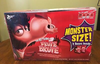 FRUTE BRUTE - EXTERMELY Rare Monster cereal giant pack - New and sealed 2 boxes
